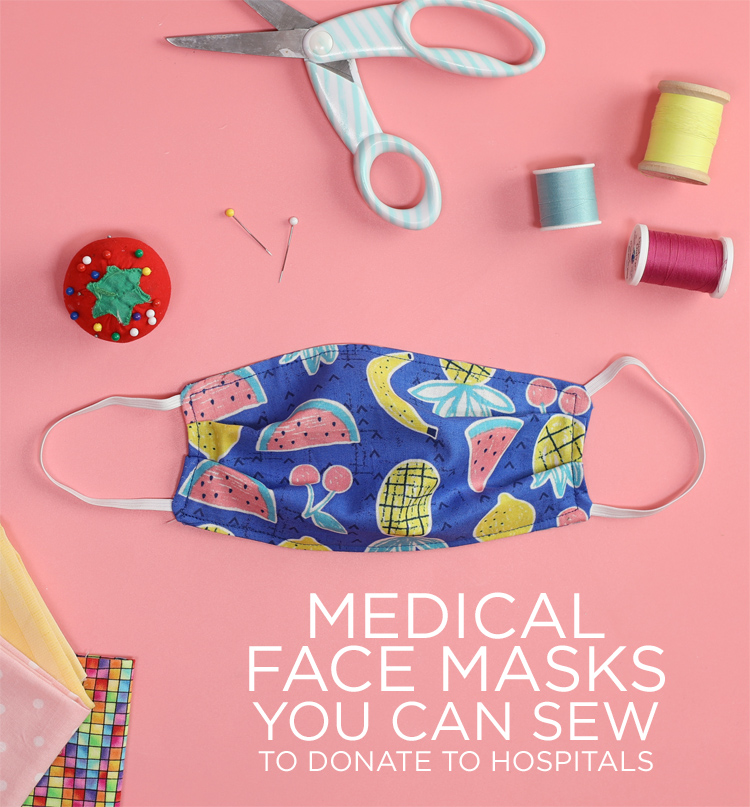DIY Medical Face Masks You Can Sew To Donate To Local