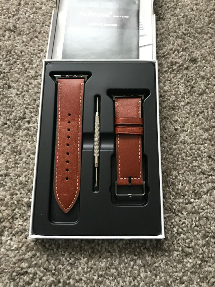 05fe7d578d0 Fullmosa Compatible Apple Watch Band 42mm 44mm 38mm 40mm Genuine Leather  iWatch - Applewatch  applewatch