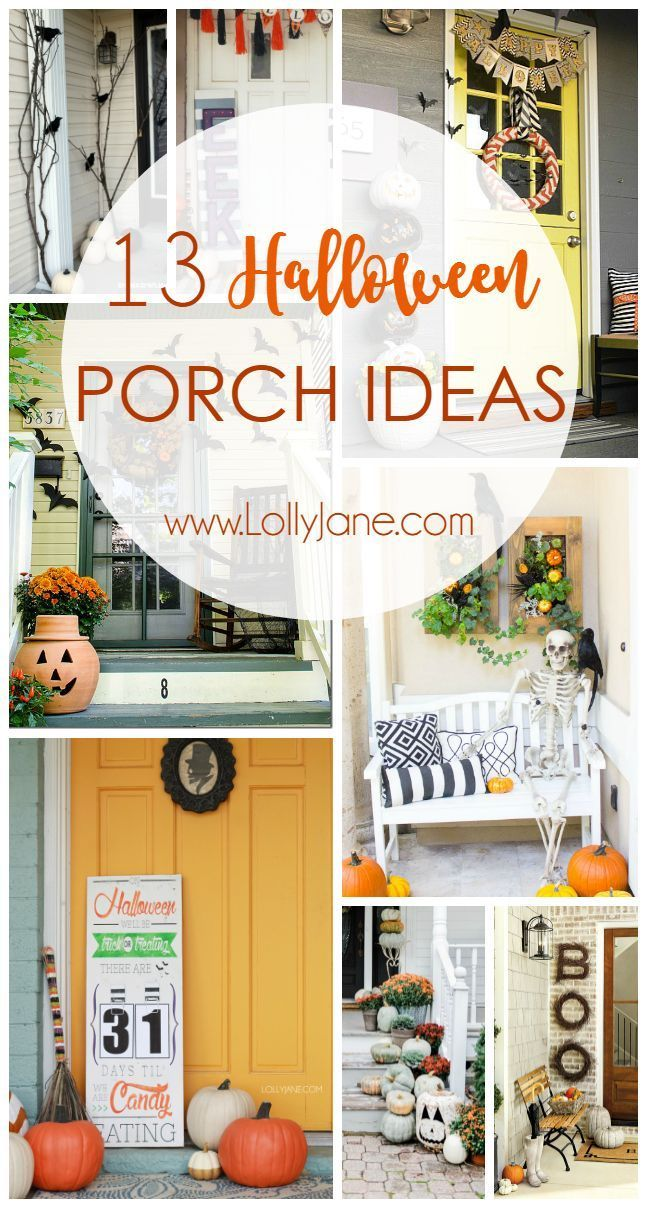 13 Halloween porch ideas. Love these outdoor Halloween decor ideas, so festive! Easy to implement Halloween decor!