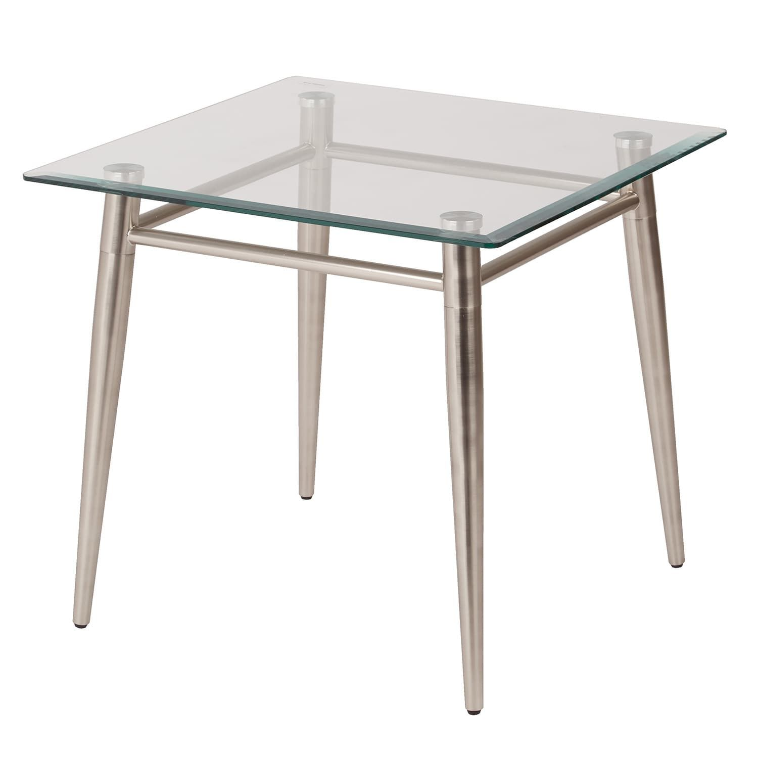 Brooklyn Square Glass Top End Table