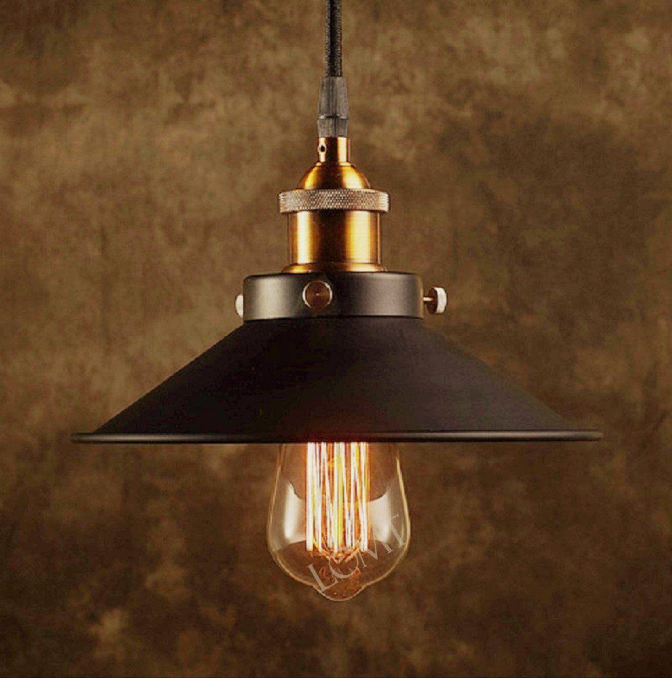 industrial loft lighting. Modern Vintage Industrial Metal Black Bronze Loft Bar Ceiling Light Shade Retro Pendant Light: Amazon Lighting