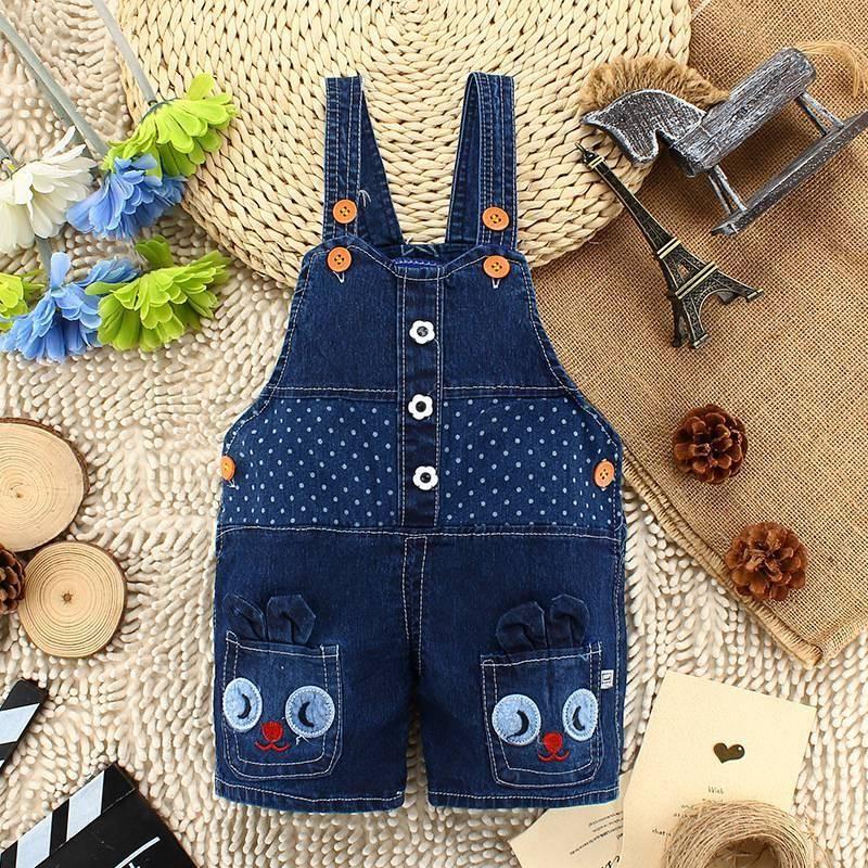 Infant Girls Clothes Toddler Denim Bib Pants Kids Shorts Jeans Overalls Jumpsuit