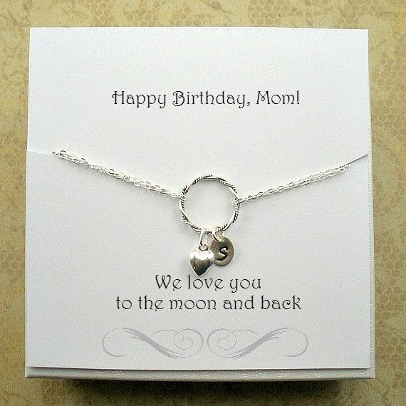 Birthday Gifts For Mom Personalized Initial Mother Bracelet Giftformom