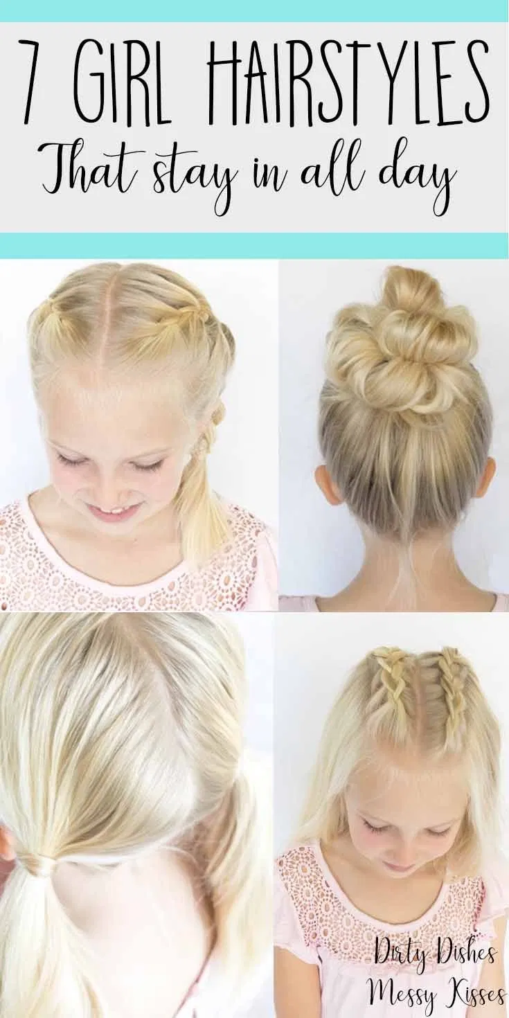 7 Girl Hairstyles - That Last All Day! - dirtydish
