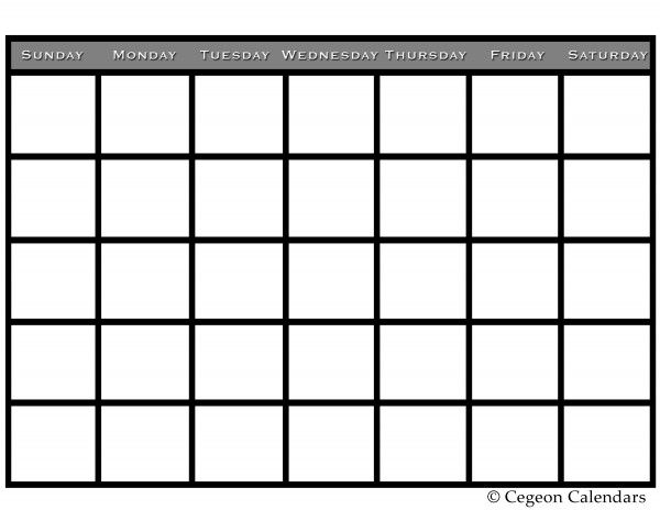 Blank Calendar Free Printable Calendars  Printable
