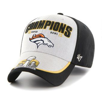 b8acf17cc8d03e Denver Broncos Gray/Black Super Bowl 50 Champions MVP Structured Adjustable  Hat