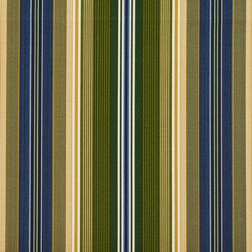 Blue Green And Gold Stripes Outdoor Indoor Upholstery Fabric By The Yard Contemporary