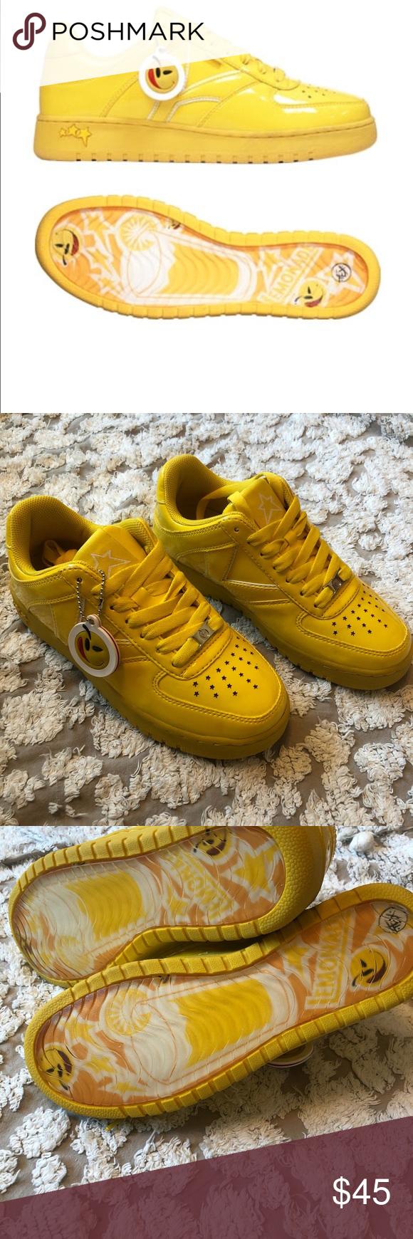 yums lemonade yellow sneaker shoe