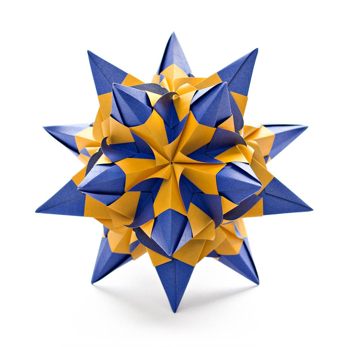 Diagram For A Modular Origami Kusudama Talitha Star Designed By Diagrams Maria Sinayskaya Folded With 30 Square Sheets Of Paper Assembled Without Glue