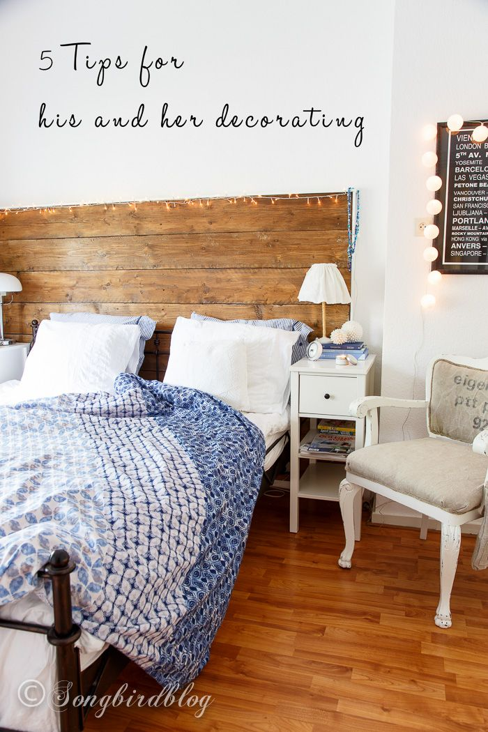 Review 5 tips for his and her decorating Songbird Photo - Cool Decorating Bedroom Walls Picture