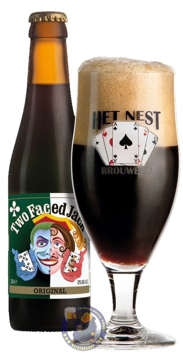 "Our New Beer: Two Faced Jack 10° Available at http://store.belgianshop.com/special-beers/1976-two-faced-jack-10.html Now more than ten years ago, a group of friends started a beer tasting club. Every two weeks they came together at one of their homes to drink a good Belgian beer and to discuss beer, women and football. During the years the interest in beer grew. This resulted in following brewing courses in 2007. From that year on, they started ""Hobbybrouwerij Het Nest (Home Brewery the…"