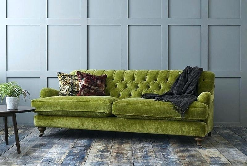 Interiors With A Crushed Velvet Sofas