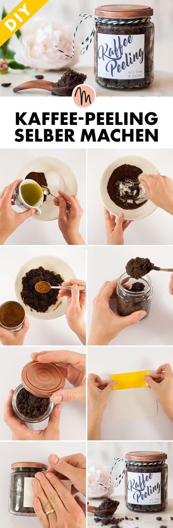 kaffee peeling selber machen diy geschenkidee gratis anleitung via geschenke. Black Bedroom Furniture Sets. Home Design Ideas