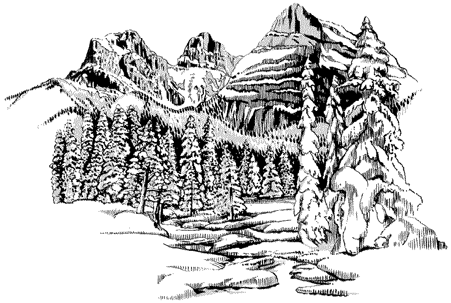 detailed landscape coloring pages for adults | Landscape Coloring Pages For Adults | Hands of the Future ...
