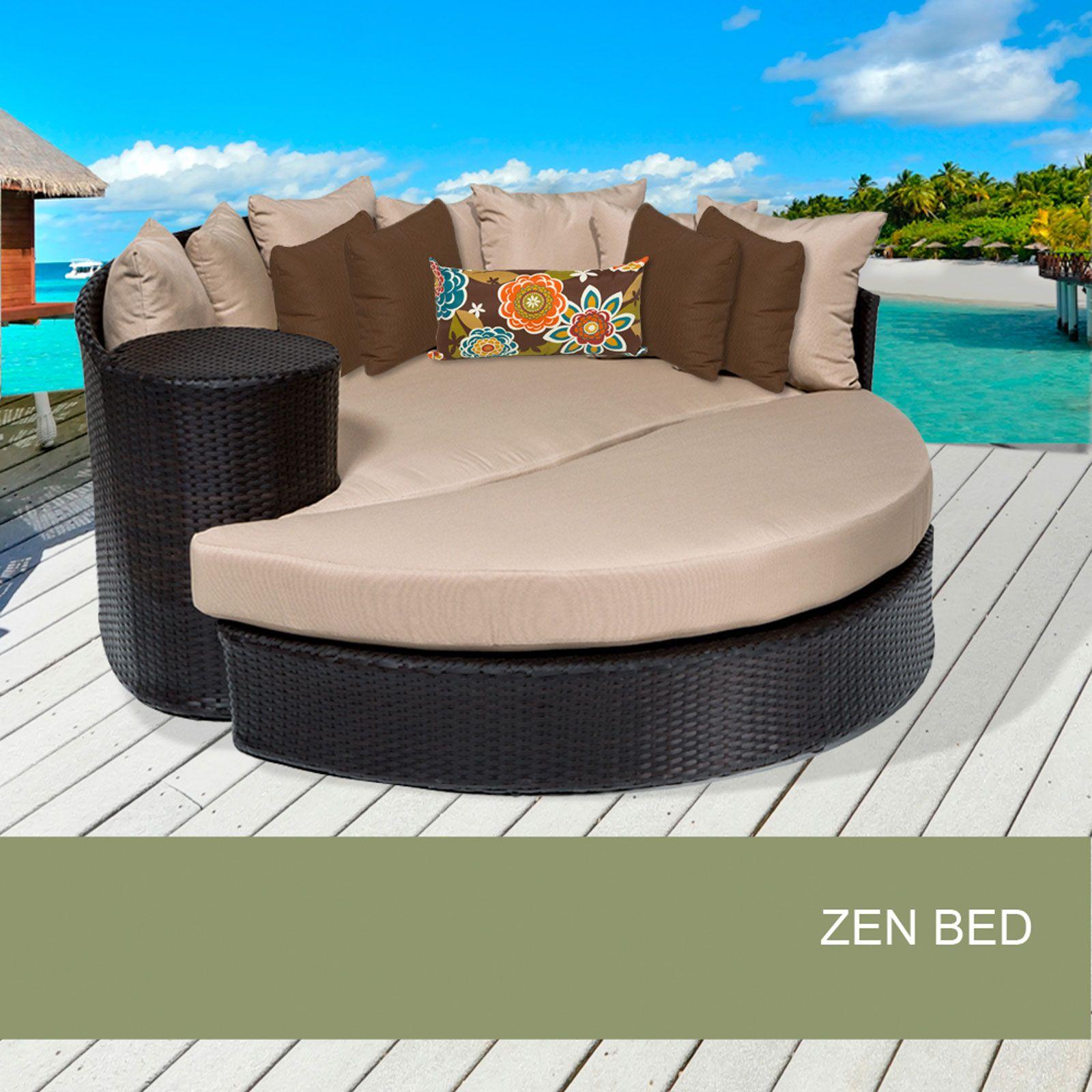 Zen Circular Sun Bed   Outdoor Wicker Patio Furniture   Design Furnishings