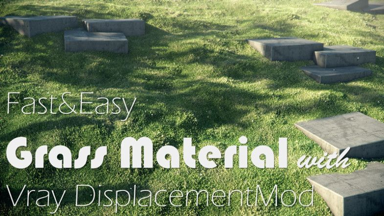 Easy Grass Material With Vray 3ds Max Cg Blog