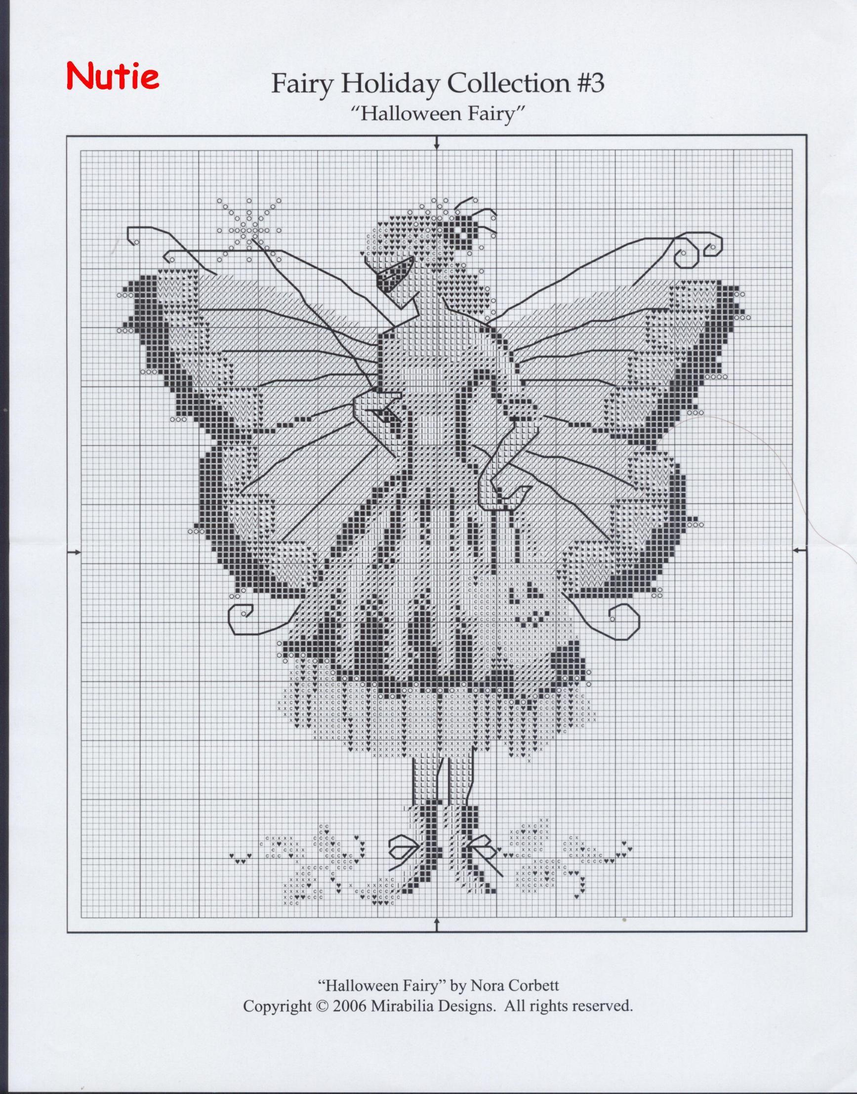 FHC#3_The Halloween Fairy_2/4 | Nora Corbett | Punto de cruz, Punto ...