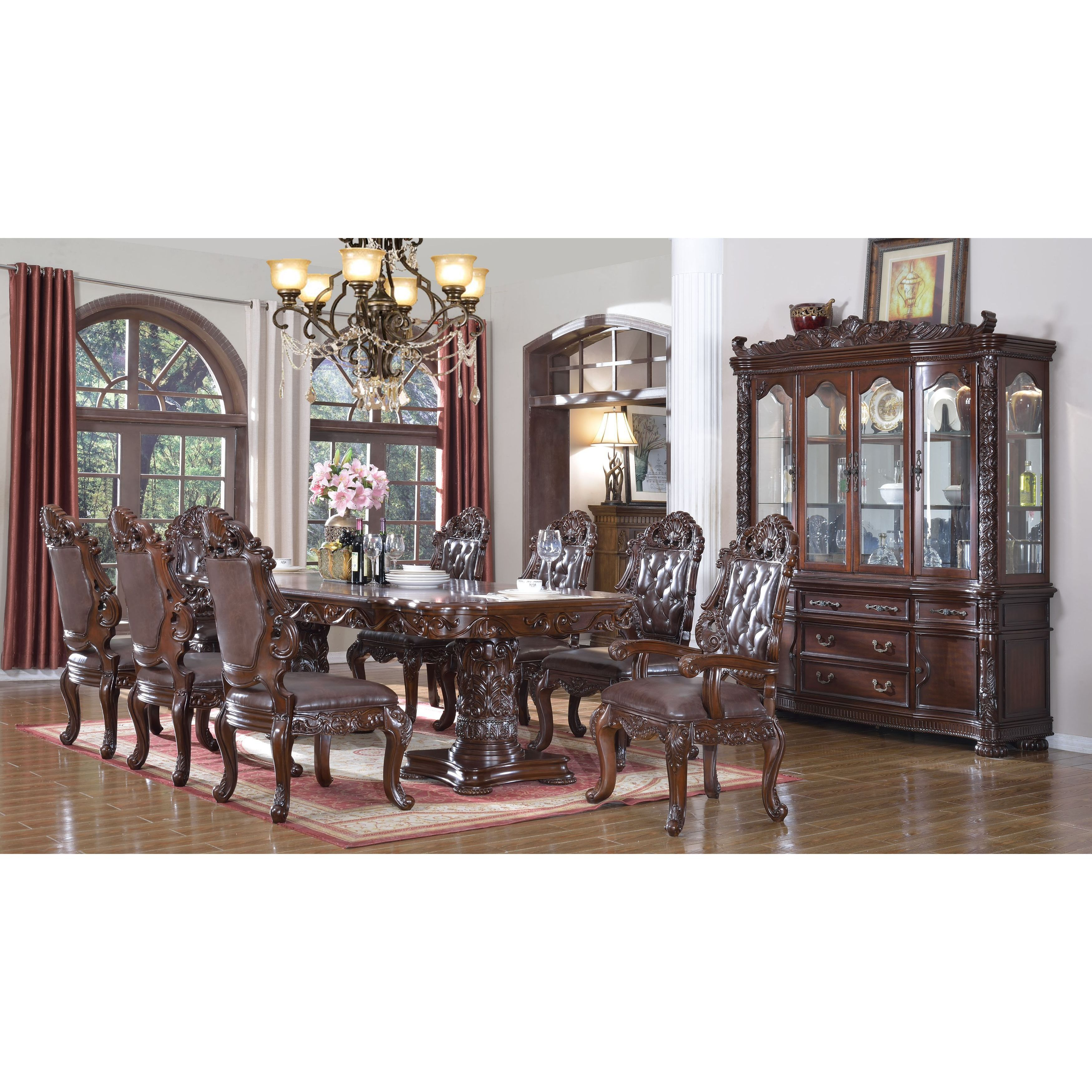 Meridian Barcelona Cherry 10 piece Dining Set Products