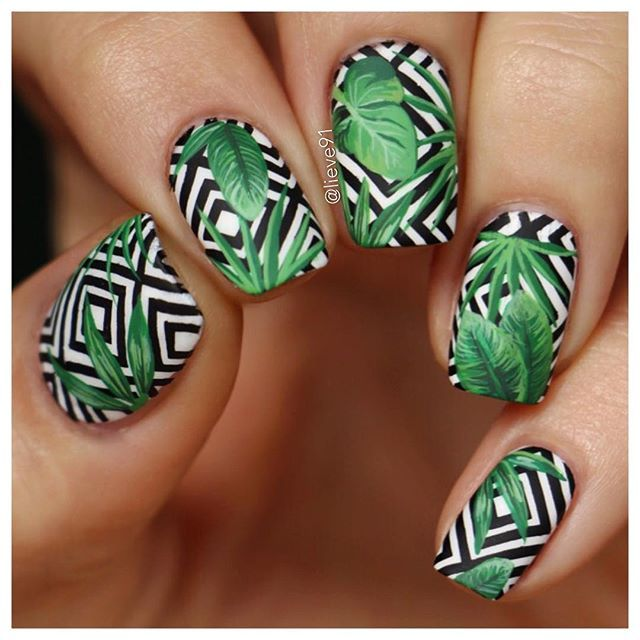 October Nail Art: WEBSTA @lieve91 Tropical Vibes In October- Because Why Not