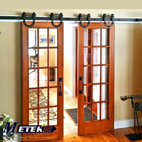 4 9ft 6ft 6 Cast Iron Sliding Interior Barn Doors