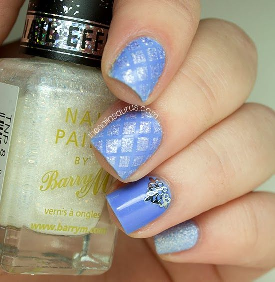 The Nailasaurus | UK Nail Art Blog: Baby Blue Quilted Nail Art