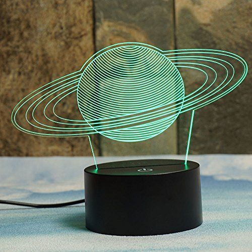 Saturn S Rings 3d Illusion Lamps Elstey 7 Color Changing Https Www Amazon Com Dp B01m09df49 Ref Cm Sw R Pi Dp 3d Illusion Lamp Glass Lighting 3d Led Lamp