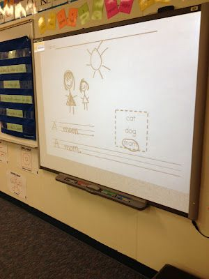 Smartboards are fantastic for engaging learners of all ages!  I especially like how writing is incorporated!