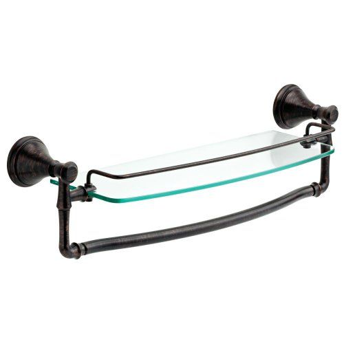 Delta Cassidy 18 in Glass Shelf with Bar - About Delta Faucet