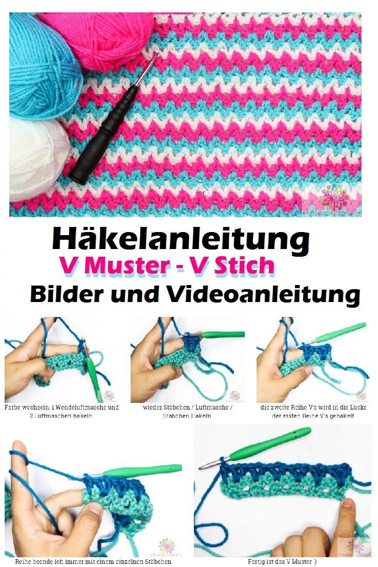 Outstanding V Stitch Häkelnschalmuster Image Collection - Decke ...