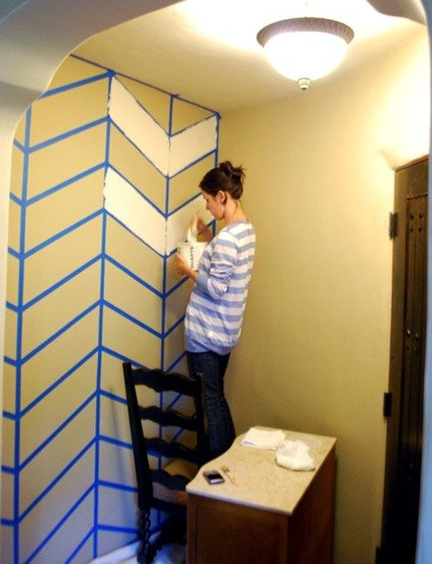 How to paint a chevron wall: I really really really wanna zig-zag ...
