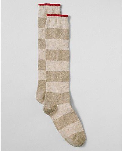 Metallic Stripe Boot Socks   Eddie Bauer