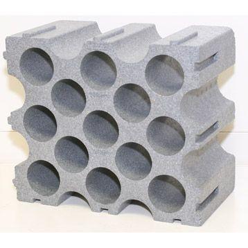 Casier De 15 Bouteilles Mottez En Polystyrene Leroy Merlin Etagere Laiton Range Bouteille Casier A Bouteille