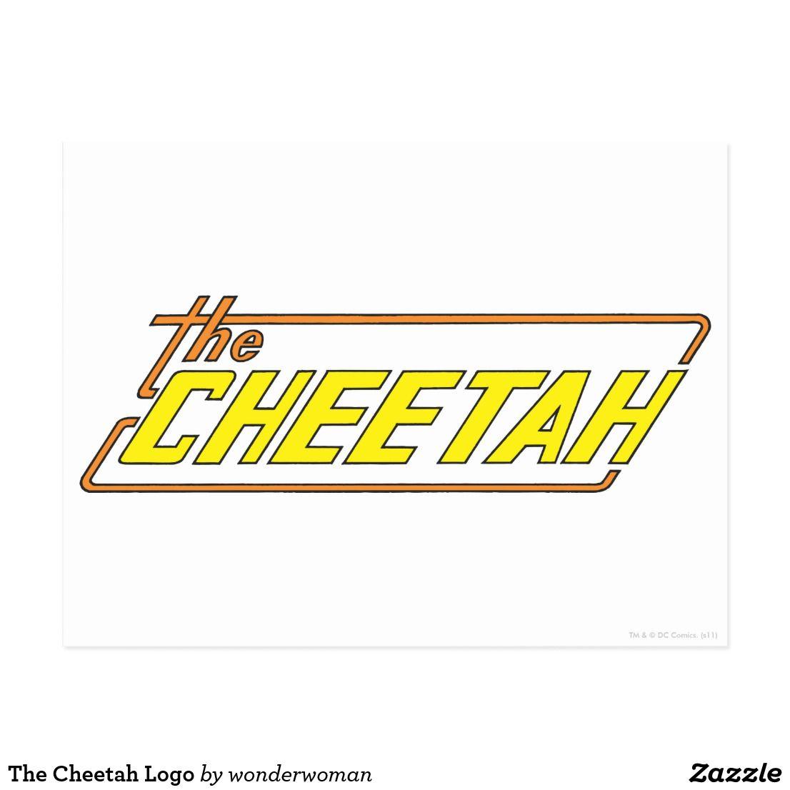 the cheetah logo postcard zazzle com cheetah logo postcard wonder woman comic cheetah logo postcard wonder woman comic