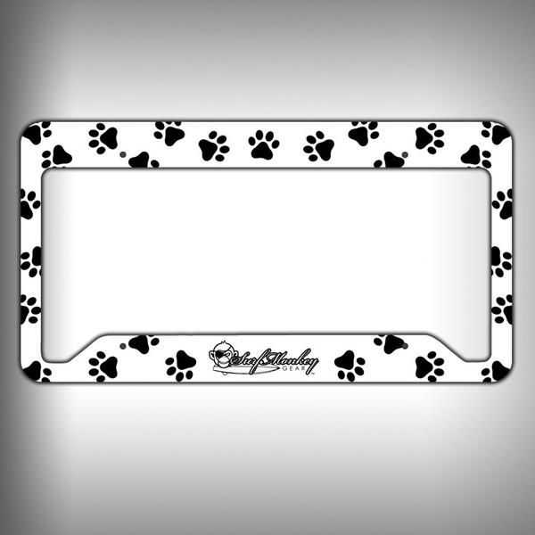 Paw Print Custom Licence Plate Frame Holder Personalized Car ...