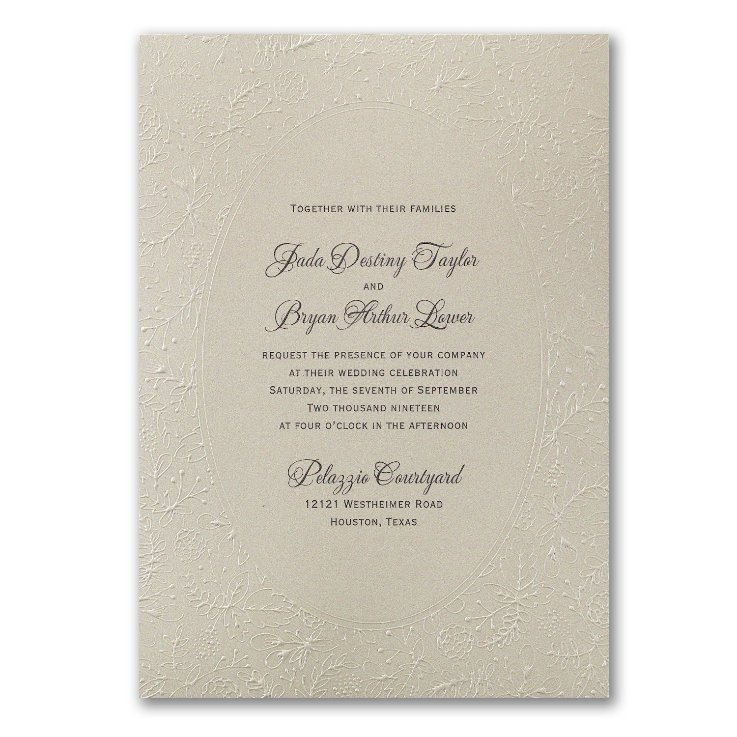 Natural Luxury Invitation 40 Off Carlson Craft Wedding