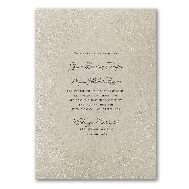 Natural Luxury Invitation Wedding Ideas