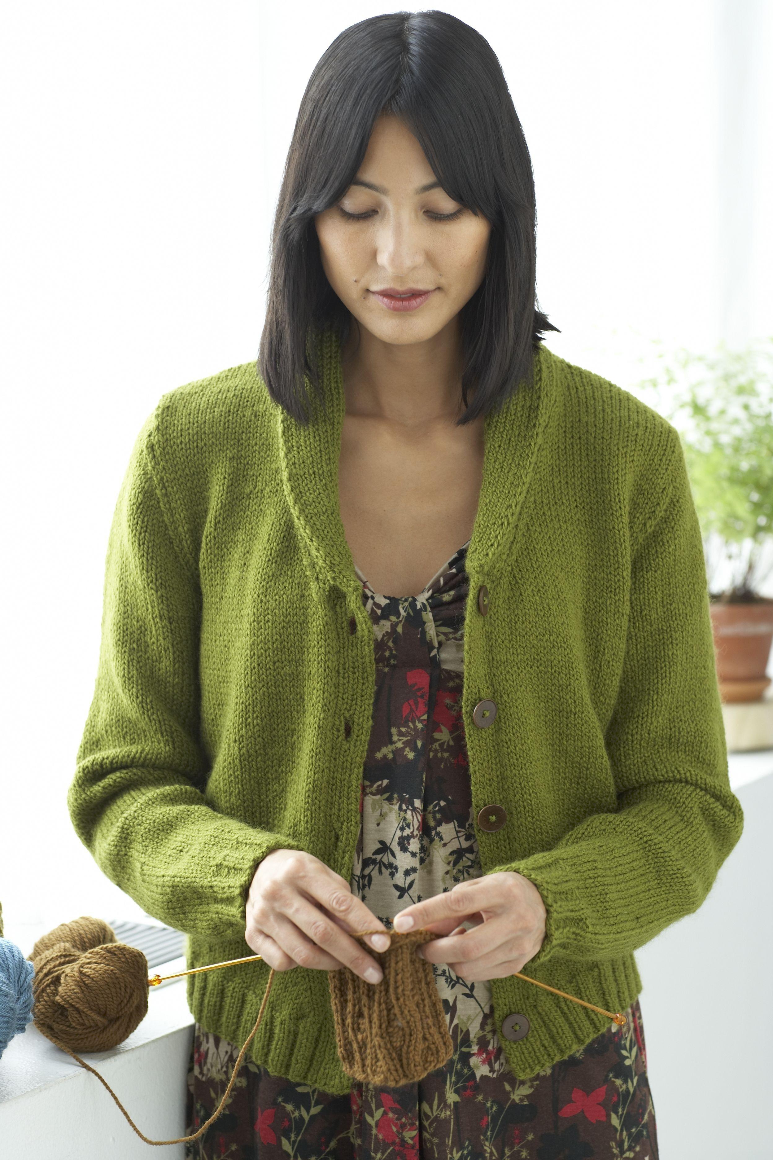 Portland Cardigan Pattern (Knit) Free Download from Lion Brand Yarns ...