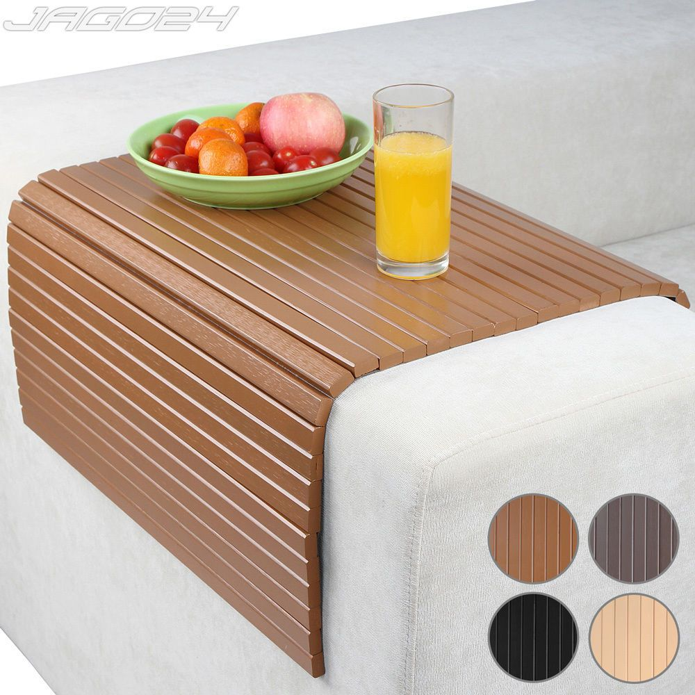 Couch Tray Table Sofa Arm Rest Tray Couch Chair Cover Flexible Snack Table Trivet