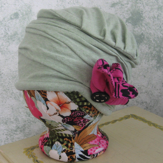Womens Hat Pattern Upcycled Cloche With Flower Trim Stylish Sewing ...