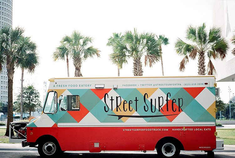 street surfer is a catering food truck roaming the streets of tampa bay florida with fresh local eats and bikini killer sweets