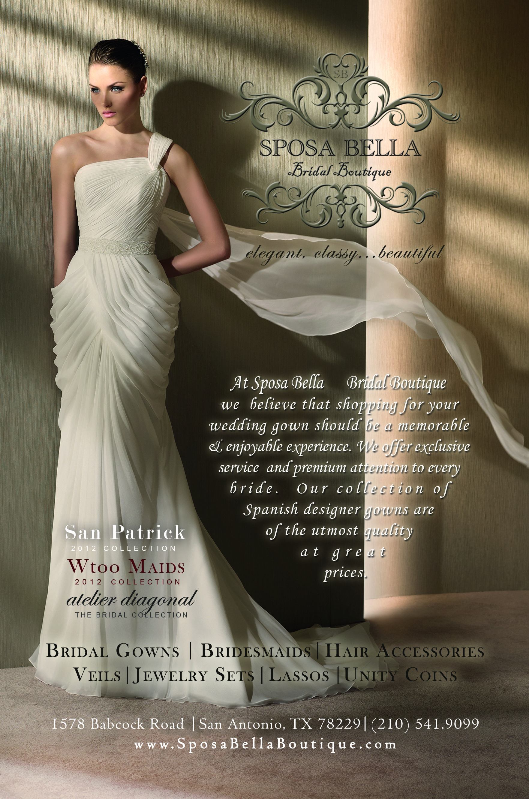 0b340720fd0a At Sposa Bella Bridal Boutique we believe that shopping for a wedding gown  should be a memorable
