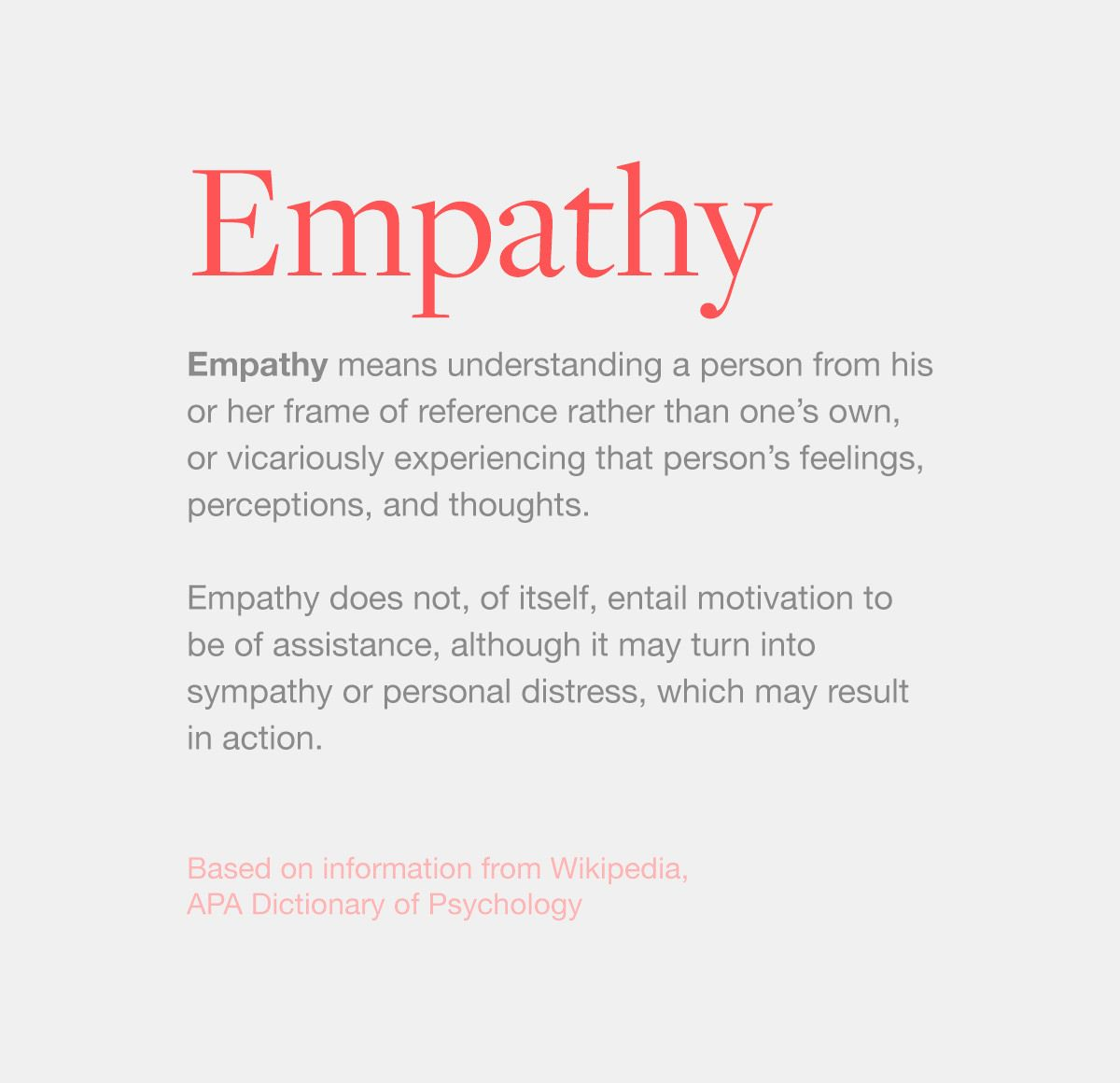 Definition Of Empathy With Images Empathy Emotions Empathy