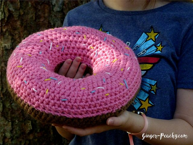 Scrumptious Donut Pillow Pattern By Amy Yarbrough Pillows Half