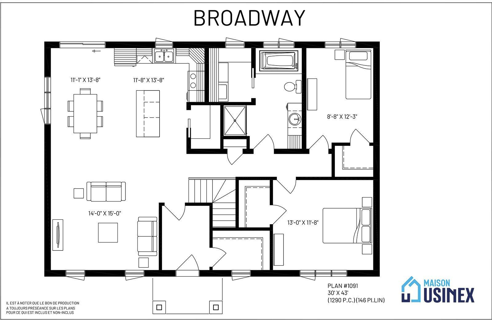 Broadway Maison Usinex How To Plan House Plans House Floor Plans