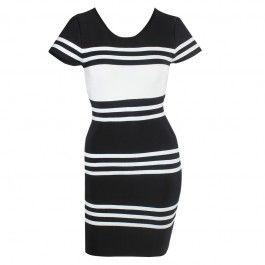 Posh Girl Black & White Polo Bandage dress