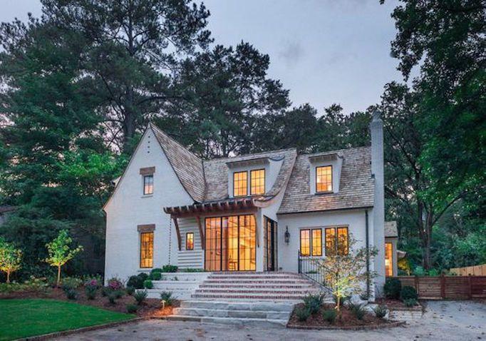 becki owens perfect pairs white brick wood shake houses