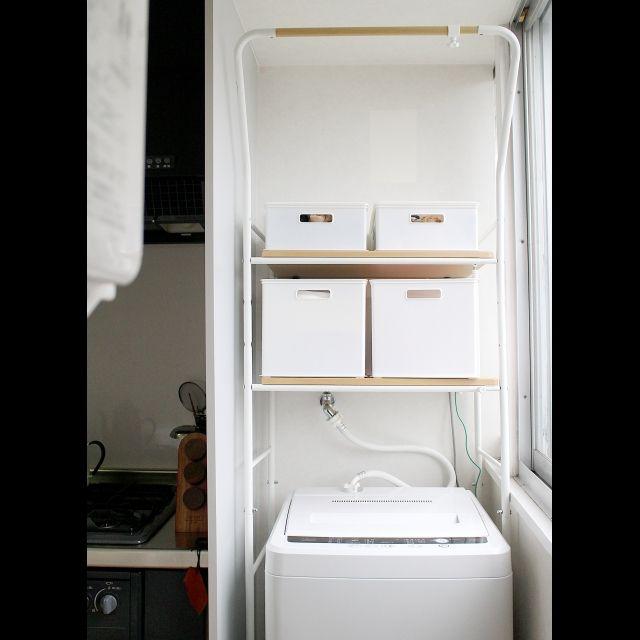 ニトリ・無印良品のアイテムで洗濯機回りをスッキリ