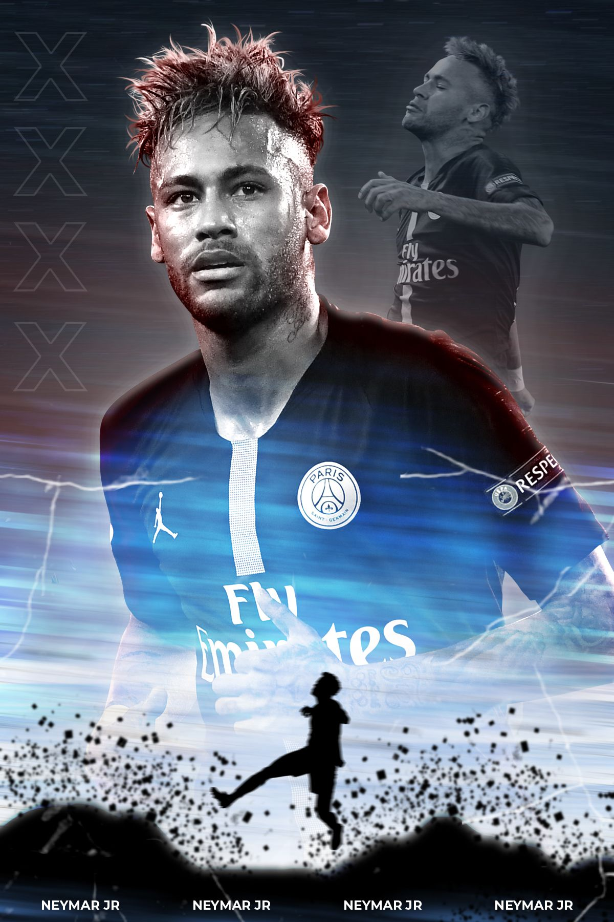 Digital art, photo manipulation, Paris Saint Germain