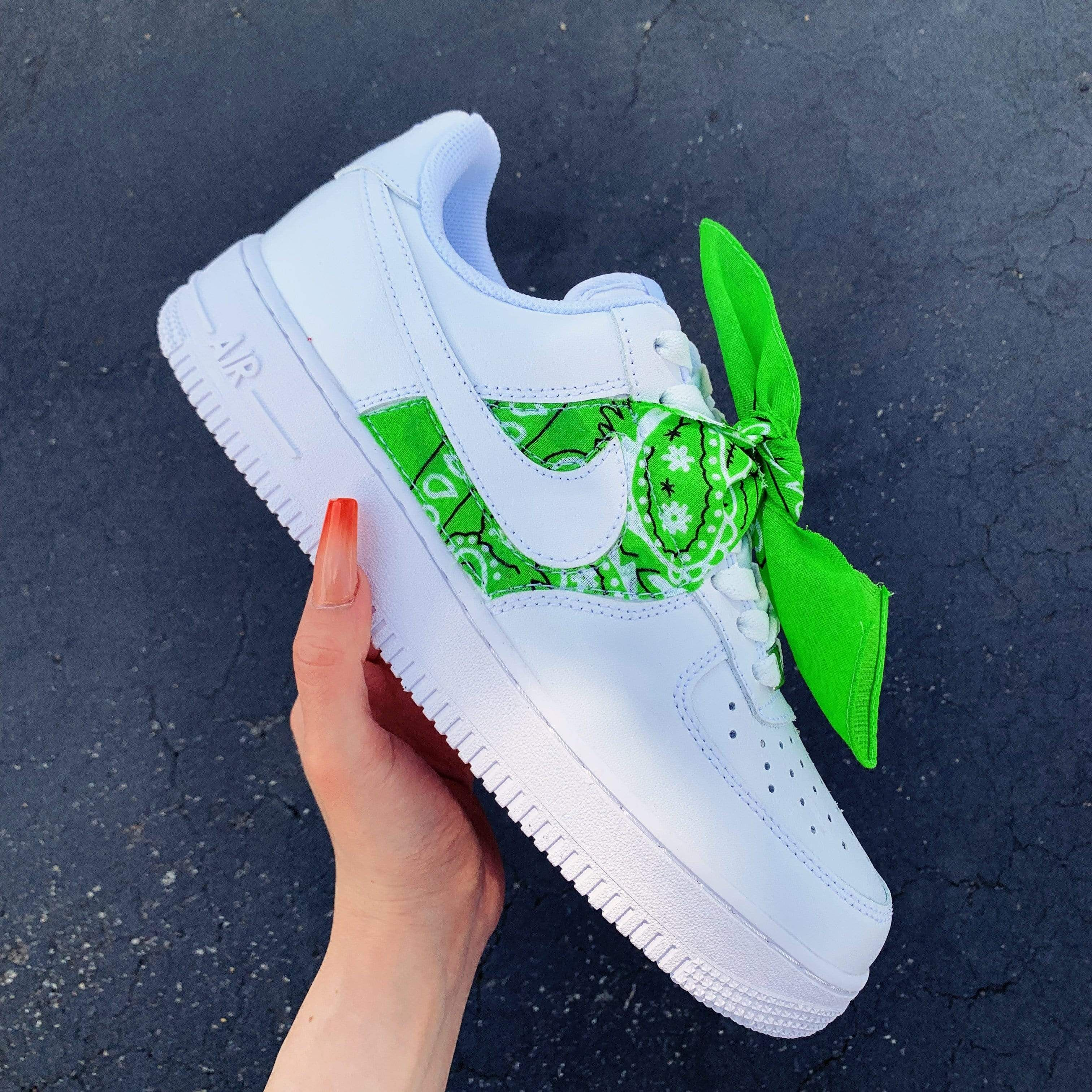 Green Bandana AF1 in 2020 (With images) Custom nike