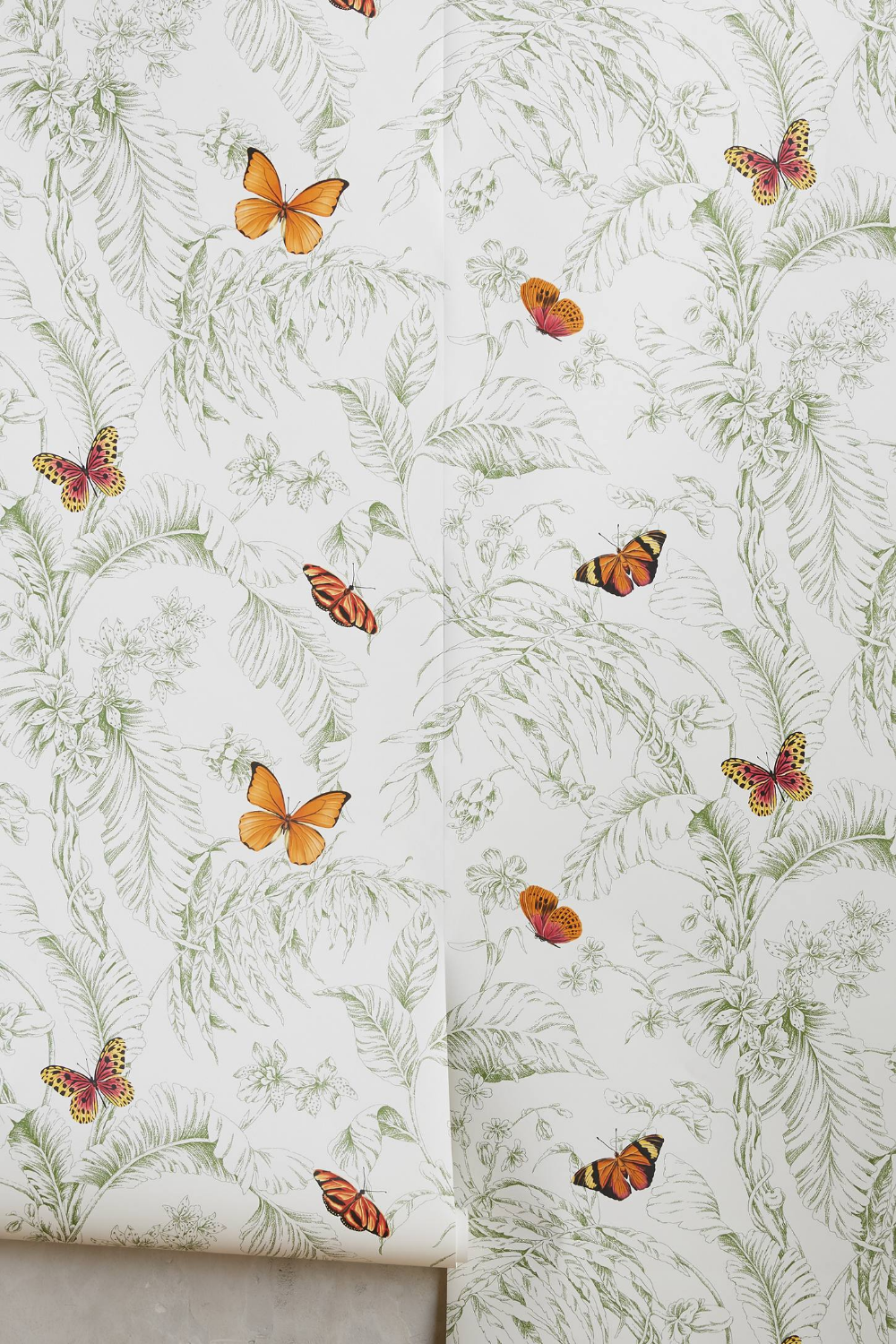 Papillon Wallpaper by Anthropologie in Black, Wall Decor